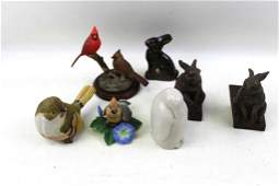 Lot of Bird and Rabbit Figurines