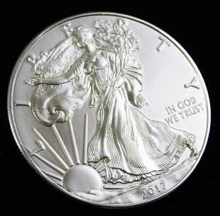 2017 BU American Silver Eagle 1 oz Silver Round