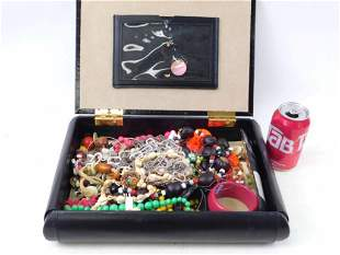 Jewelry Box with Costume Jewelry