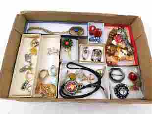 Lot of Costume Jewelry incl Brooches