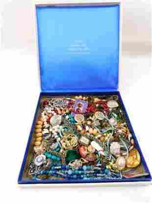Box of Costume Jewelry
