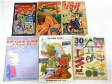 Lot of 3 Vintage Comics, 2 Vintage Morton Grove Books