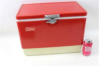 Vintage Red Coleman Cooler