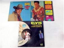 Lot of 3 Elvis Presley Vinyl LP Records