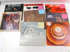 Lot of 8 Vinyl LP Records including Elvis, Chicago, Ray