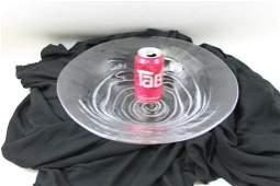 Art Glass Centerpiece Bowl Signed Simon Pearce