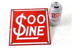 Soo Line Railroad Porcelain Sign