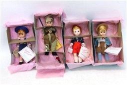 4 Madame Alexander Dolls incl Jack , Hansel , Austria
