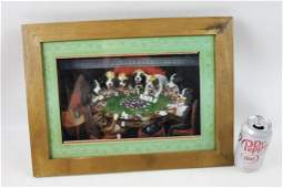 Framed Dogs Playing Poker Shadow Box Picture