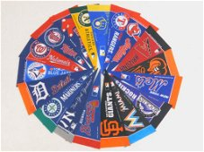 Collection of Sports Pennants or Flags