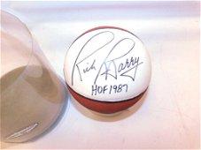 Mini Basketball Signed Rick Barry HOF 1987