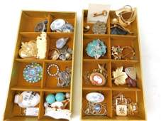 Lot of Costume Jewelry incl Brooches and Pins