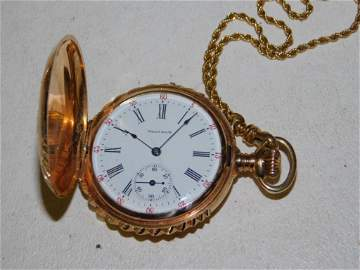 Vintage Waltham 14 Karat 15 Jewel Pocket Watch