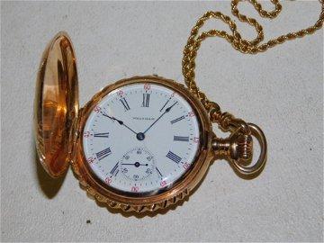 Vintage Waltham 14 Karat 15 Jewel Pocket Watch