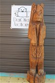 Large Carved Wood Bear over 5 ft Tall Chainsaw Art