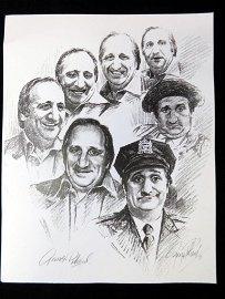 Al Molinaro Print Signed by Artist George Pallard