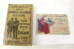 Ephemera Lot incl City Railway Directory of Chicago and