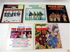 Lot of 5 Vinyl LP Records including The Beach Boys and