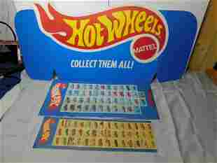 1970s Hot Wheels Advertising Display , 3 pc ,