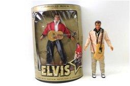 "2 Vintage 1993 Elvis Presley Dolls incl 12"" Jailhouse"