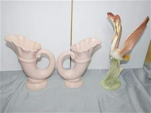 Large Brad Keeler Ceramic Flamingo Statue or Figure and