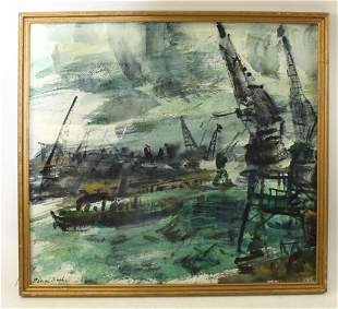 George Buehr Signed Watercolor , Listed Chicago Art