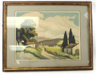 Signed Lithograph Attributed to Maurice de Vlaminck