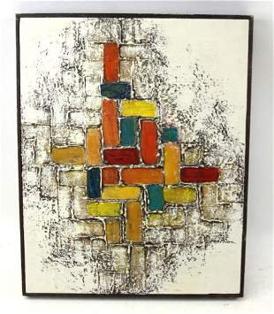 """Oil on Canvas Original Abstract MCM Signed Jean Nixon """""""