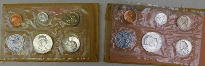 1963 and 1964 Philadelphia Uncirculated Coin Sets