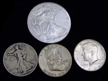 Silver Coin Lot incl 2018 American Silver Eagle 1 oz