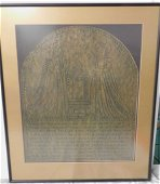Rubbing of a Brass Commemoration Measures about