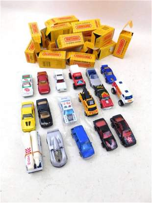 Lot of 17 Matchbox Cars with Original Boxes