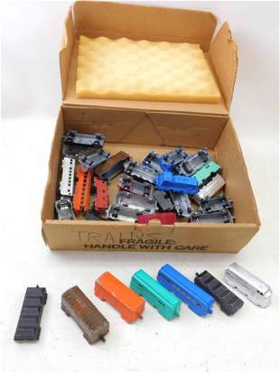 Lot of Die Cast Model Railroad Train Cars by Tootsitoy