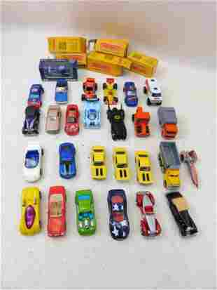 6 New in Box Matchbox Cars , 15 Loose Hot Wheels incl a