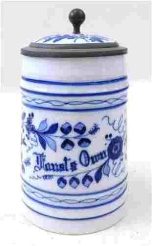 Faust's Own Blue Onion Lithophane Beer Stein