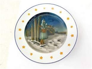 Antique German Faiance Porcelain Plate WW1 German