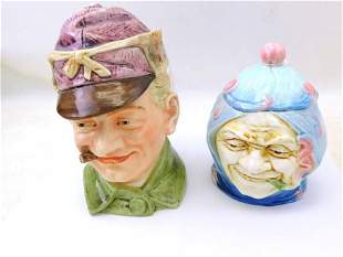 German Figural Tobacco Jars / Humidors with People