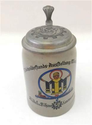 Antique Kodel Bohm Beer Stein Munich Child Munchen 1937