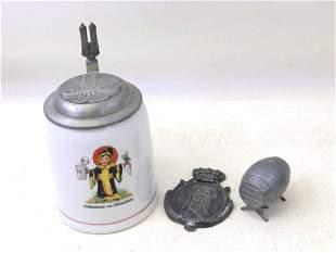 Lot of Beer Items incl Antique Munich Child Porcelain