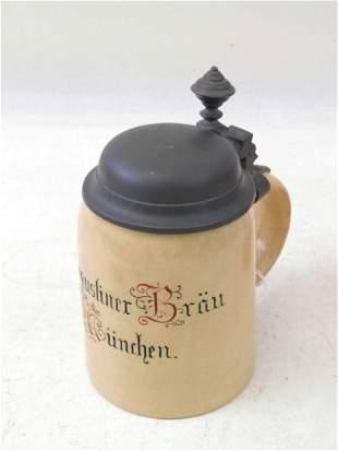 Mettlach #1526 Beer Stein Augustiner Brau Brewery