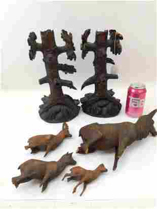 Black Forest Wood Carved Items for Parts or Repair incl
