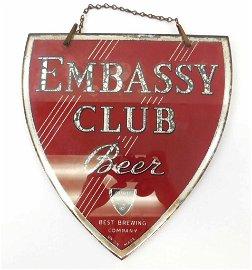 Embassy Club Pre Prohibition Reverse Glass Shield -