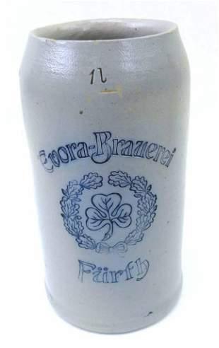 Antique German 1L Brewery Stein Furth Evora Brauerei w