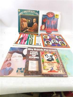 Lot of 7 Vinyl Records incl Scott Joplin , John Klemmer