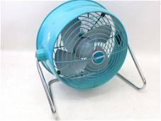 """Vintage Dominion Fan Aqua 13"""" Tall Works"""