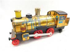 Tin and Plastic Battery Operated Toy Steam Engine