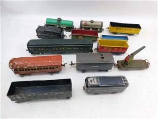 Lot of 13 Model Railroad Train Cars incl 1 Electric