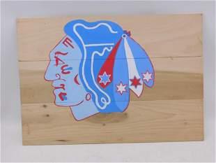 Chicago Blackhawks hand painted wood