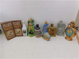 Large Lot of Jim Beam and Other Decanters, etc.