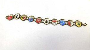 800 Silver Bracelet with German City Crests